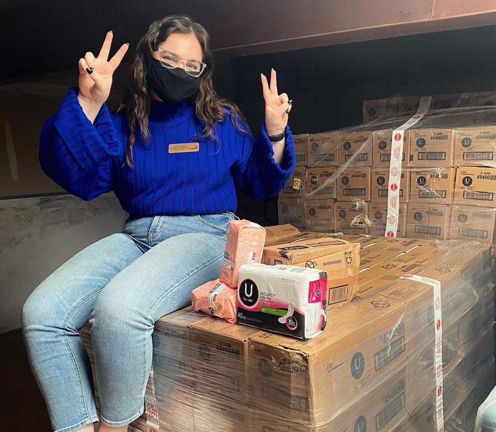 KU alumna, Just Food fill needs for local women, children