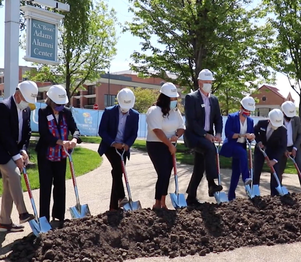 KU celebrates groundbreaking of Jayhawk Welcome Center
