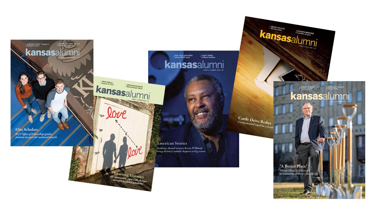 Kansas Alumni magazine covers