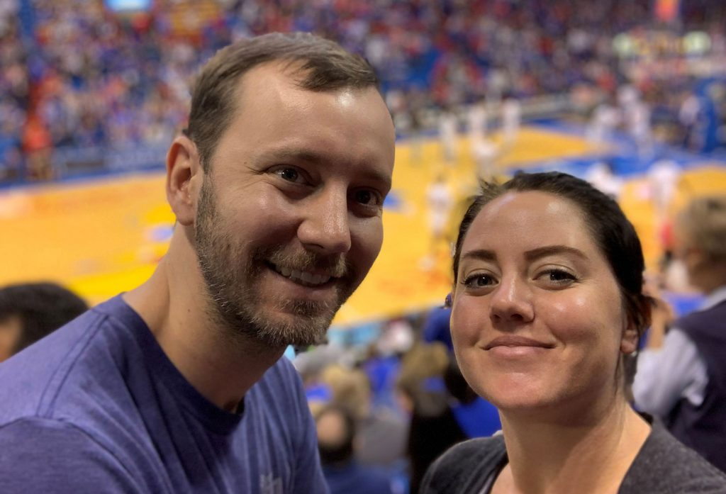 Nicole Reiz at Allen Fieldhouse