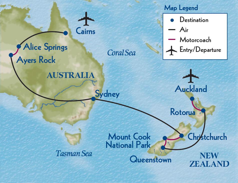 Exploring Australia & New Zealand map | Flying Jayhawks
