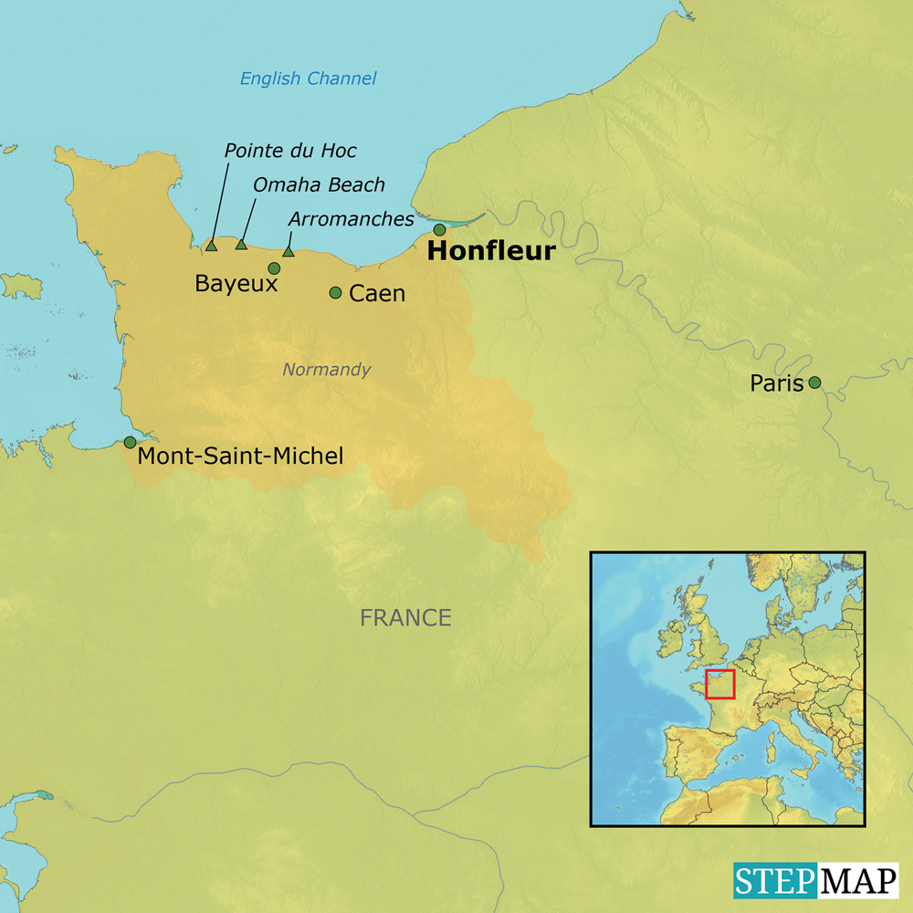 France Normandy map
