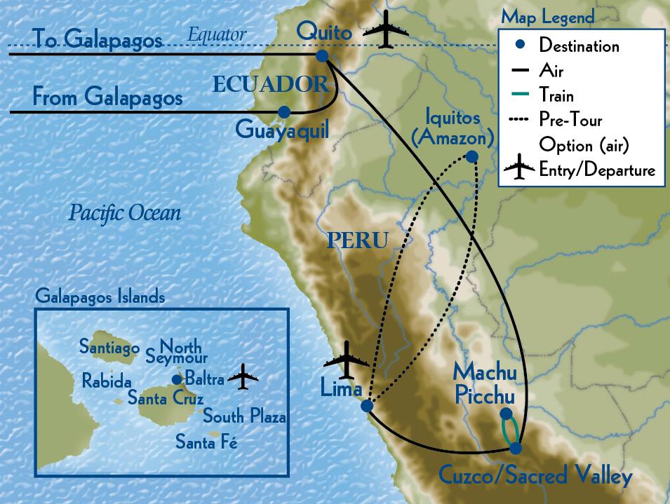 Macchu Pichu to the Galápagos