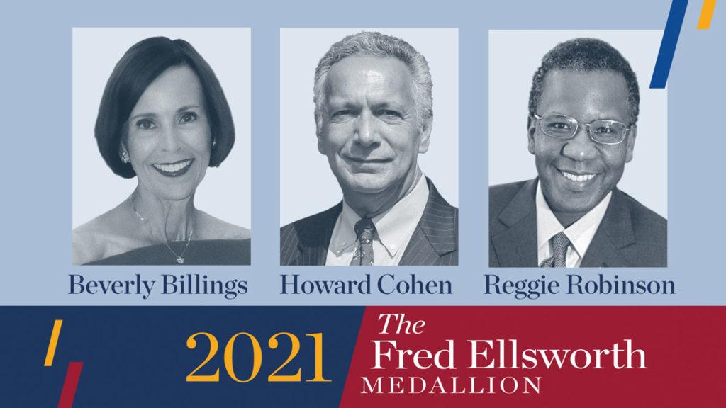 Fred Ellsworth Medallion 2021 recipients